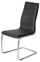 Svenska Steel Base Leather Dining Chair in Black or White Colours