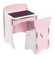 Traditional Desk & Chair in Pink and white paint  finish