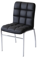Coco Dining Chair in Black and Cream Colour