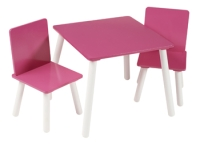 Blush Table & 2 Chairs in pink paint finish