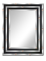 Blockette rectangular shape wall mirror