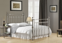 Edward Chrome Plated Metal Bed Frame Only