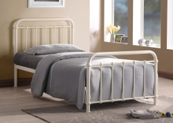 Miami Metal Bed frame only in Black or Ivory finish