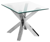 Beautiful Crossly Square Glass Lamp Table/ End Table