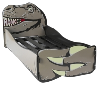 Dinosaur Bed in grey paint finish