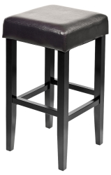 Dark Brown Wooden Stool with Dark Wooden Legs