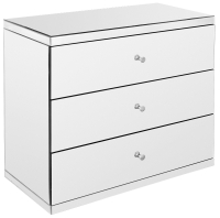 Mirrored Chest of 3 Drawers/ Mirrored Sideboard