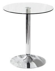 60cm Tempered Glass Top Bistro Side Table