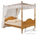 Veneza Four Poster Bed And Canopy Antique Solid Pine Wood Finish