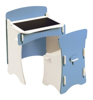 Traditional Desk & Chair in Blue and white paint  finish