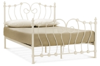 Inova metal bed in Ivory or Black finish